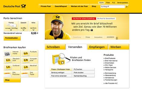 Landingpage-Optimierung: Startseite Post.de - nach Relaunch