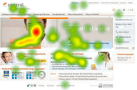 Landing-Page-Test 1 - Heatmap optimierte Version