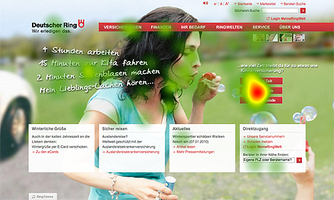 Landing-Page-Optimeriung - Test 2 - Heatmap optimierte Version