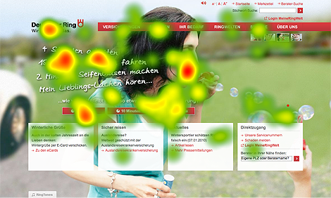 Landing-Page-Optimeriung - Test 2 Original Heatmap
