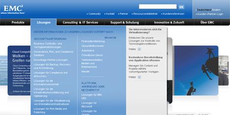 Beispiel für ausgewogene Haptik (EMC.com)