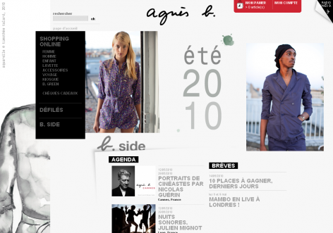agnes b - inspirierende E-Commerce Designs