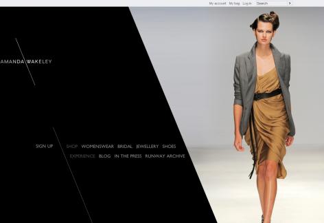 Amanda Wakeley - inspirierende E-Commerce Designs