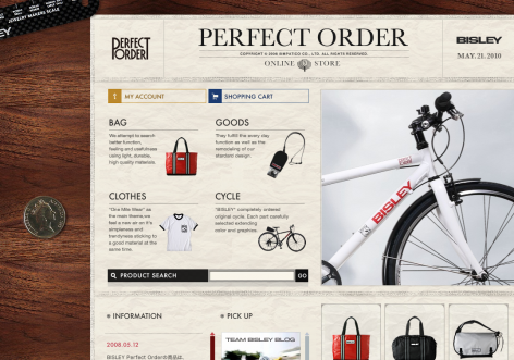 Bisley - inspirierende E-Commerce Designs