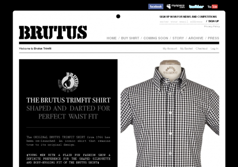 Brutus - inspirierende E-Commerce Designs