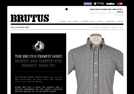 Brutus - inspirierende E-Commerce Designs