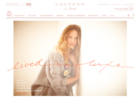 Calypso - inspirierende E-Commerce Designs