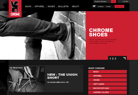 Chrome - inspirierende E-Commerce Designs