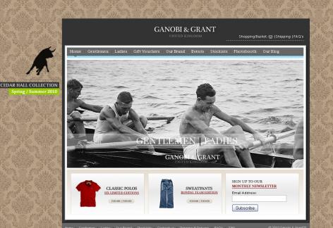 Ganobi Grant - inspirierende E-Commerce Designs