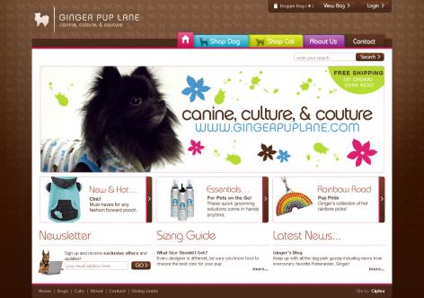Ginger Pup Lane - inspirierende E-Commerce Designs