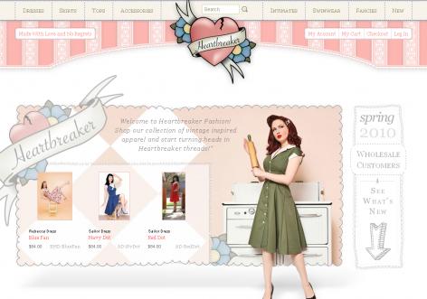 Heartbreaker - inspirierende E-Commerce Designs