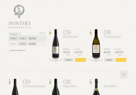 Hunters - inspirierende E-Commerce Designs