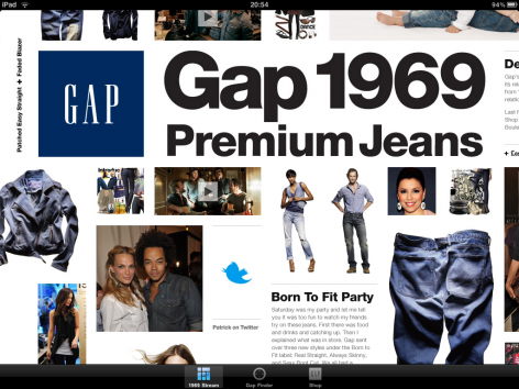Gap iPad Shopping App