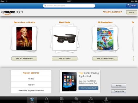 Amazon iPad Shopping App