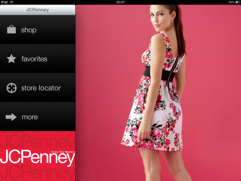 JCPenney iPad Shopping App