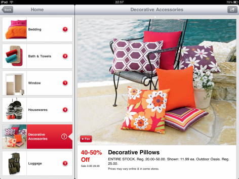 JCPenney iPad Shopping App Produktseite