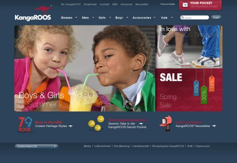 Kangaroos - inspirierende E-Commerce Designs