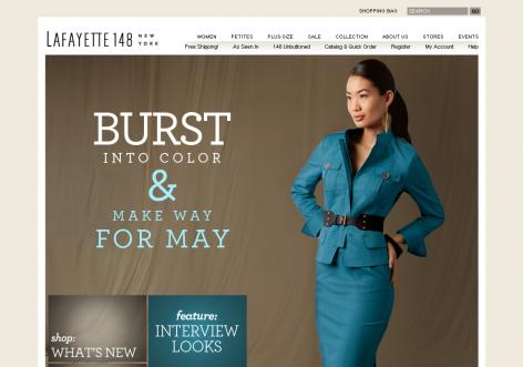 Lafayette - inspirierende E-Commerce Designs
