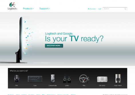 Logitech - inspirierende E-Commerce Designs