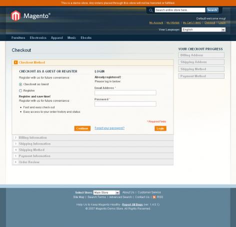 Checkout von Magento
