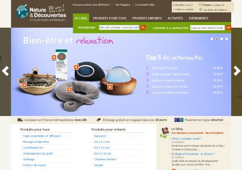Nature Decouverts - inspirierende E-Commerce Designs