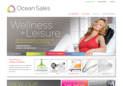 Ocean Sales - inspirierende E-Commerce Designs