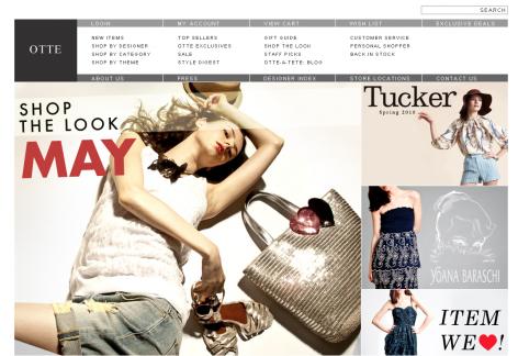 Otte - inspirierende E-Commerce Designs