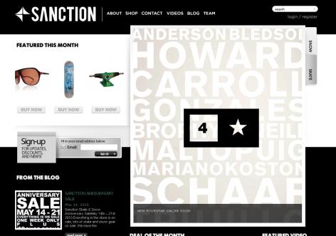 Sanction - inspirierende E-Commerce Designs