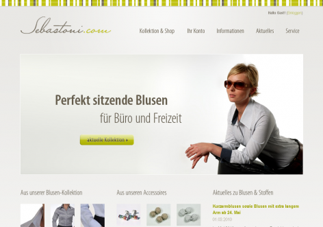 Sebastoni - inspirierende E-Commerce Designs