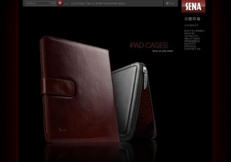 Sena - inspirierende E-Commerce Designs