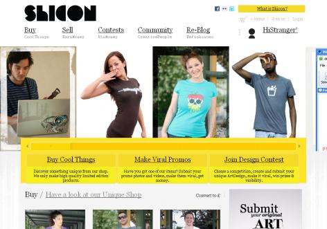 Shicon - inspirierende E-Commerce Designs