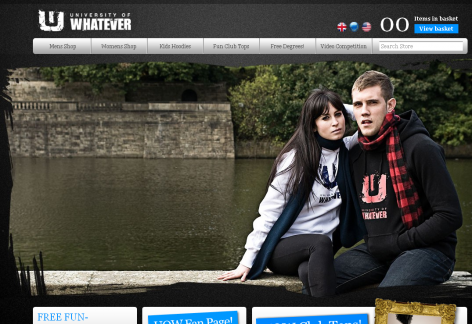 University of Whatever - inspirierende E-Commerce Designs