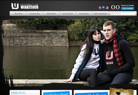 University of Whatever - inspirierende E-Commerce Designs