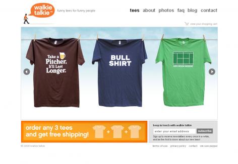 Walkie Talkie - inspirierende E-Commerce Designs