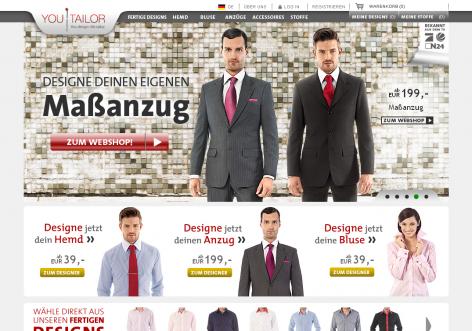 Youtailor - inspirierende E-Commerce Designs