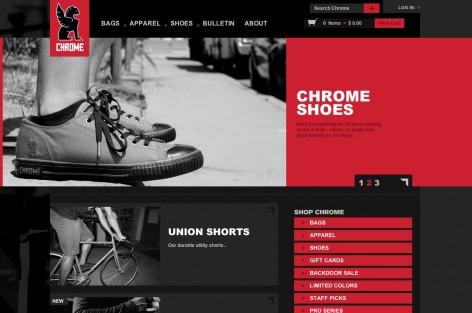 chrome Startseite - Flat Design