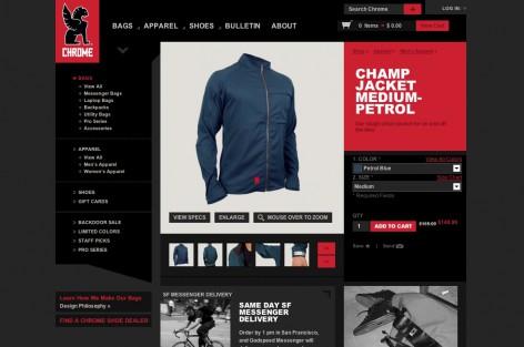 chrome Produktseite - Flat Design