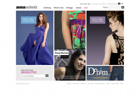 Anna Scholz - Showcase Magento Shop Design