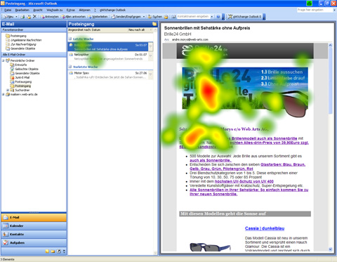 Newsletter Brille 24 - Heatmap