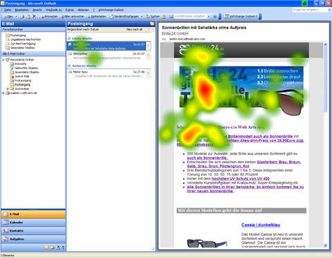 Newsletter Brille 24 - Heatmap