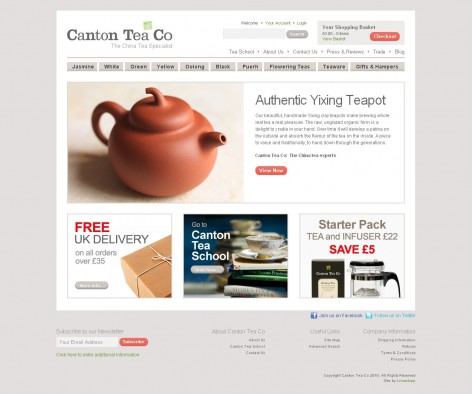 Canton Tea Co - Showcase Magento Shop Design