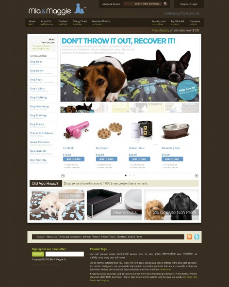 Mia Maggie - Showcase Magento Shop Design