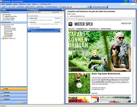 Newsletter - Mister Spex