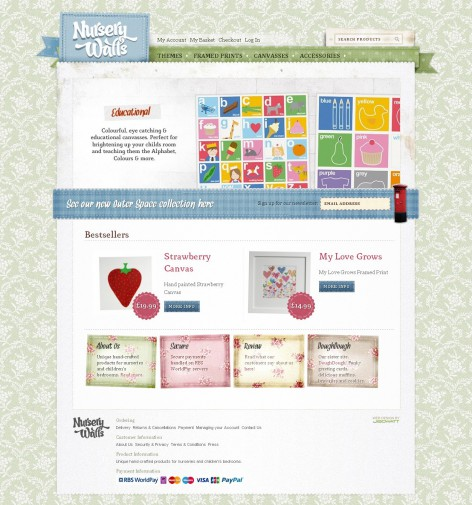 Nursery Walls - Showcase Magento Shop Design