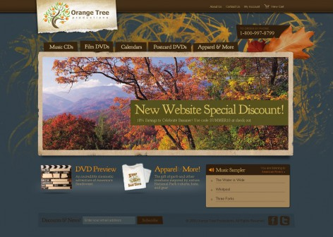 Orange Tree Productions - Showcase Magento Shop Design