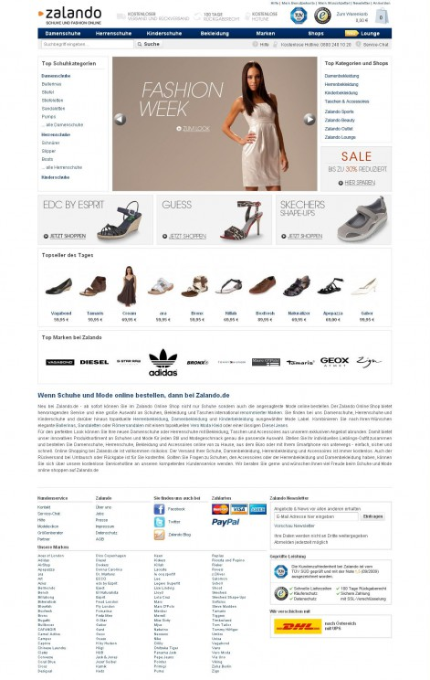 Zalando - Showcase Magento Shop Design