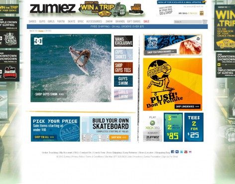 Zumiez - Showcase Magento Shop Design