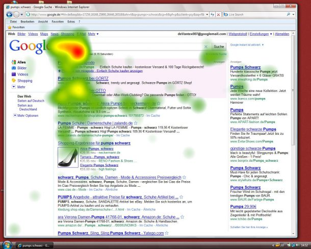 Adwords Killer? Google Instant Search Eyetracking Analyse