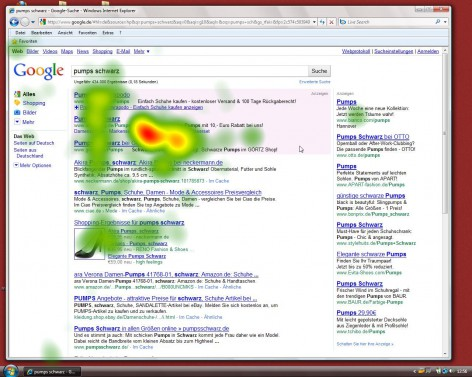 Heatmap google.de - alte Version