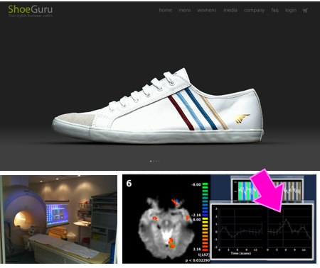 Shoeguru Landingpage Studie Neuromarketing